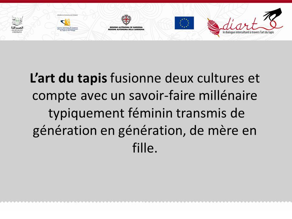 Lart du tapis fusionne deux cultures et compte avec un savoir-faire millénaire typiquement féminin transmis de génération en génération, de mère en fille.