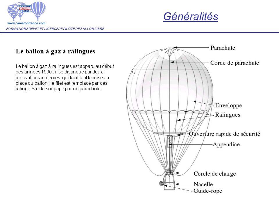 Le ballon à gaz à ralingues Le ballon à gaz à ralingues est apparu au début des années 1990 ; il se distingue par deux innovations majeures, qui facil