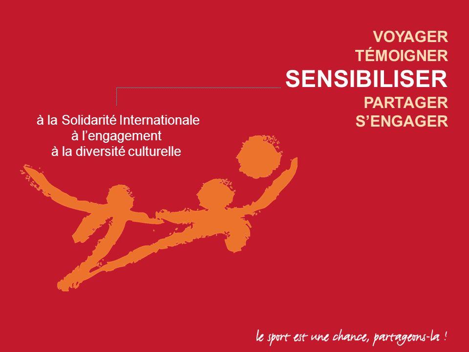 VOYAGER TÉMOIGNER SENSIBILISER PARTAGER SENGAGER à la Solidarité Internationale à lengagement à la diversité culturelle
