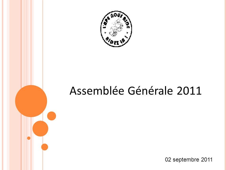 02 septembre 2011 Assemblée Générale 2011