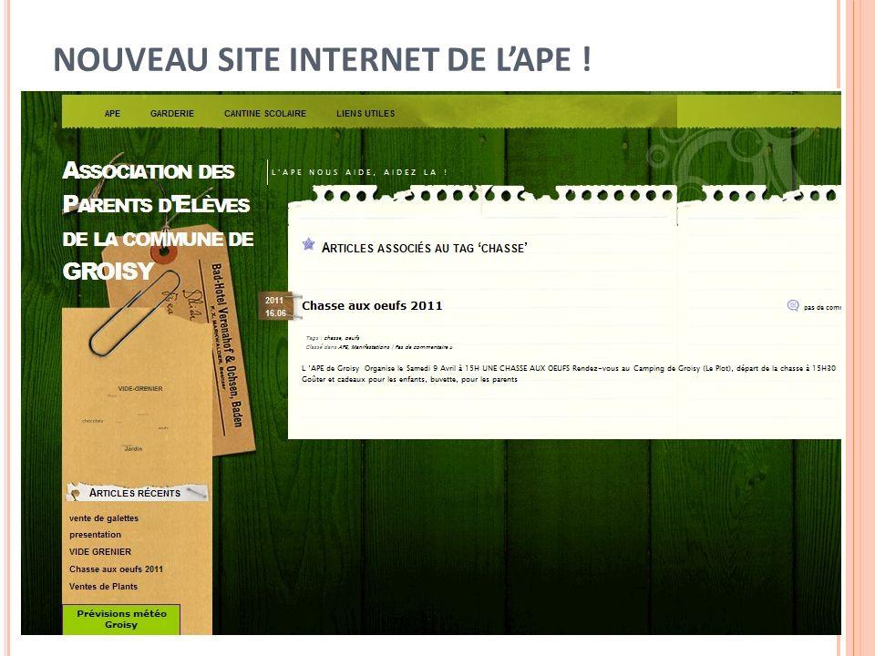 NOUVEAU SITE INTERNET DE LAPE !