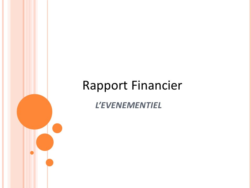 LEVENEMENTIEL Rapport Financier