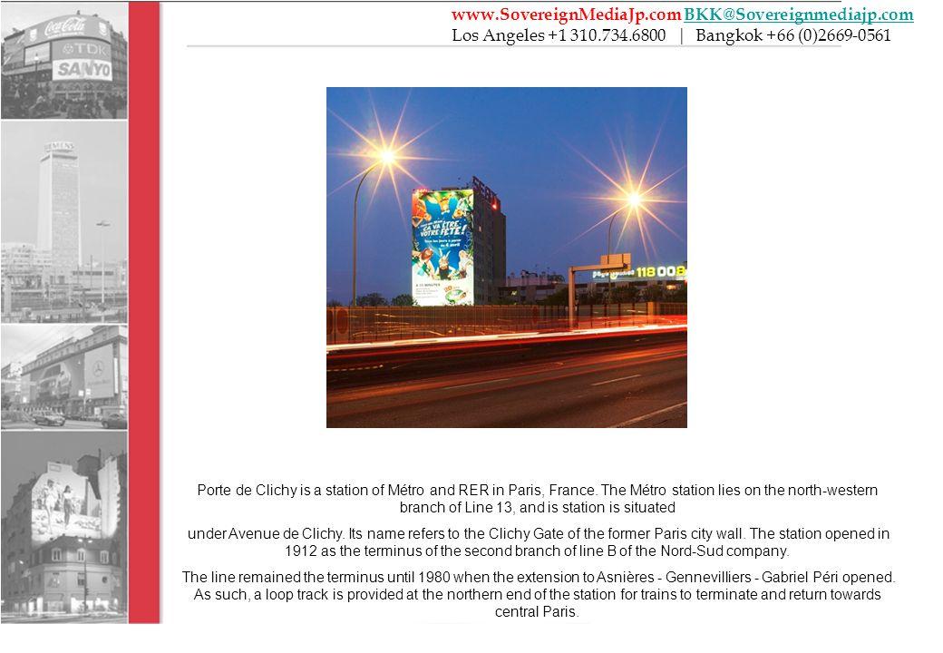Porte de Clichy is a station of Métro and RER in Paris, France.