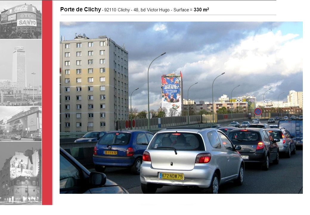 m 2 Porte de Clichy - 92110 Clichy - 48, bd Victor Hugo - Surface = 330 m 2