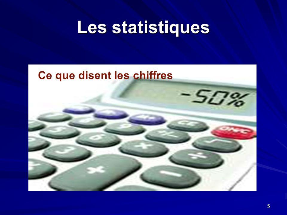 5 Les statistiques Ce que disent les chiffres