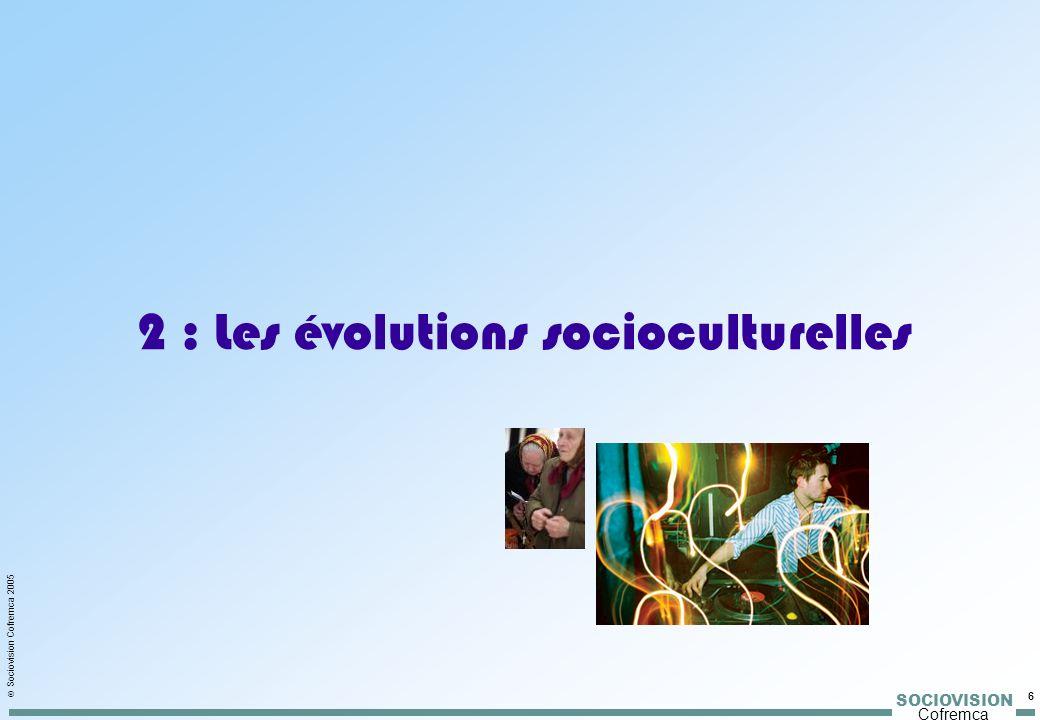 SOCIOVISION Cofremca 6 Sociovision Cofremca 2005 2 : Les évolutions socioculturelles