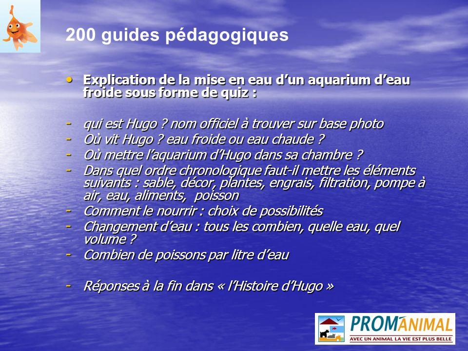 200 guides pédagogiques Explication de la mise en eau dun aquarium deau froide sous forme de quiz : Explication de la mise en eau dun aquarium deau fr