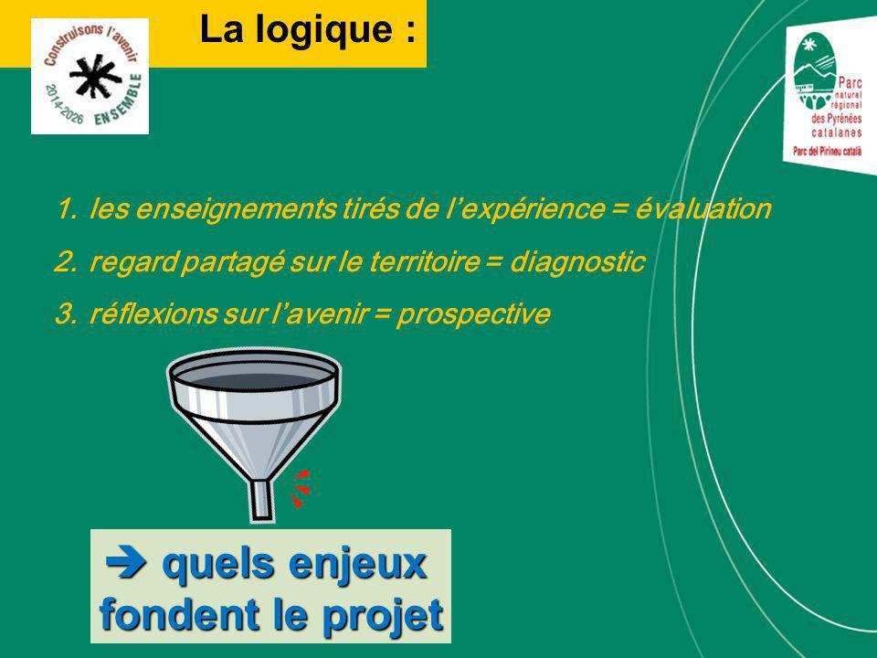 La logique : quels enjeux quels enjeux fondent le projet 1.