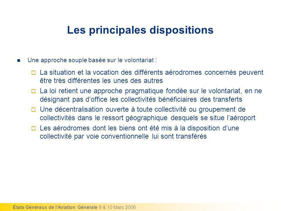 États Généraux de lAviation Générale 9 & 10 Mars 2006 Une approche souple basée sur le volontariat : La situation et la vocation des différents aérodr