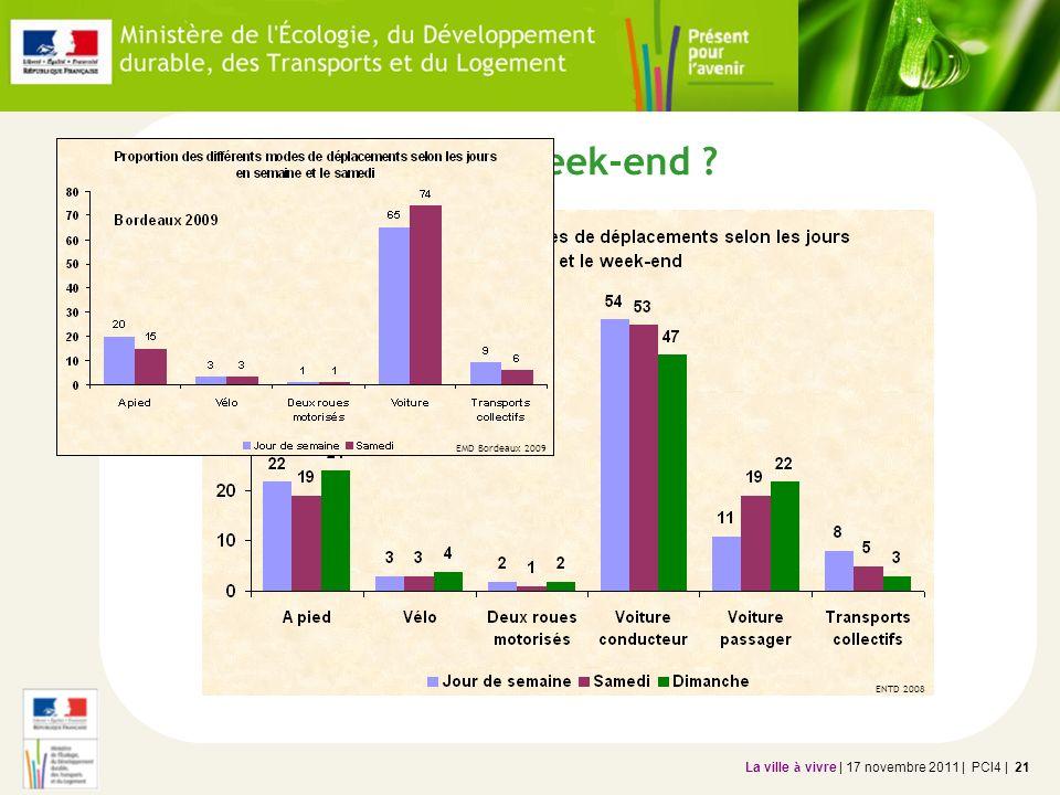 La ville à vivre | 17 novembre 2011 | PCI4 | 21 Et le week-end ? EMD Bordeaux 2009 ENTD 2008