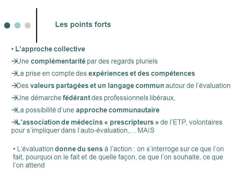 Les points forts Lapproche collective Une complémentarité par des regards pluriels La prise en compte des expériences et des compétences Des valeurs p