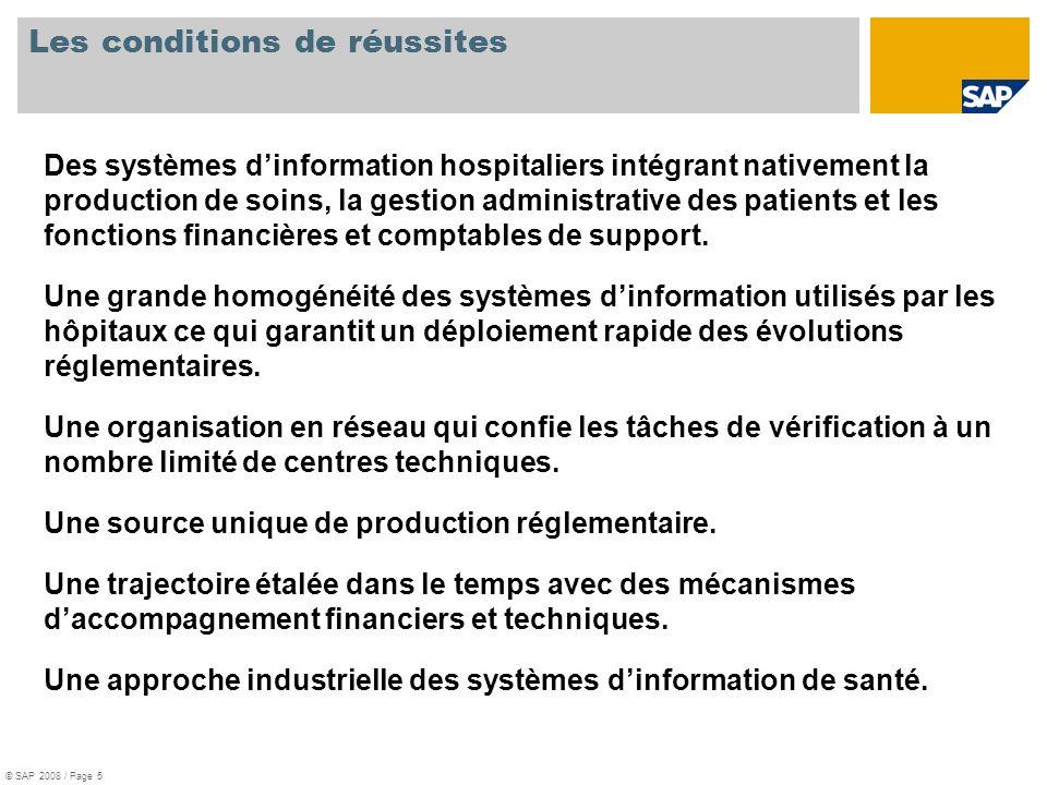 Les conditions de réussites Des systèmes dinformation hospitaliers intégrant nativement la production de soins, la gestion administrative des patients