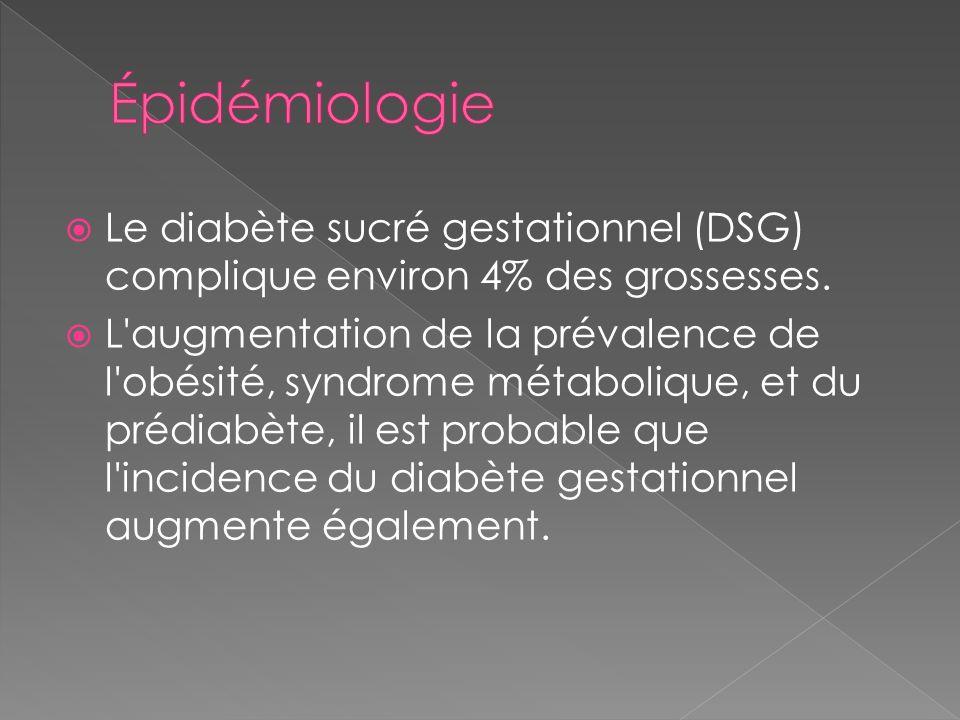 Traitement pharmacologique: Insuline si objectif non atteint en 2 sem avec diète Insuline Lispro (Humalog) et régulière (Humulin) sécuritaires (ne traverse pas la barrière placentaire) Lantus à éviter (expérience limitée, risque dhypoglycémie nocturne)