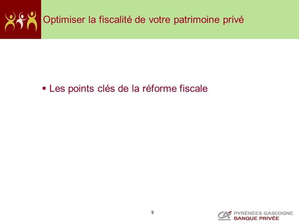 9 Optimiser la fiscalité de votre patrimoine privé Les points clés de la réforme fiscale