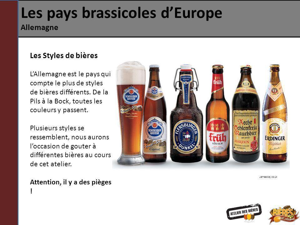 Les pays brassicoles dEurope Allemagne Les Styles de bières LAllemagne est le pays qui compte le plus de styles de bières différents. De la Pils à la