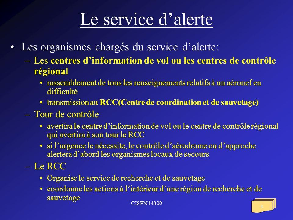 CISPN14300 5 Les actions du centre dinformation de vol ou du centre de contrôle régional notifier la phase durgence au RCC rechercher tous les renseignements utiles notifier à lexploitant les phases durgences communiquer les renseignements aux RCC notifier la fin de létat durgence