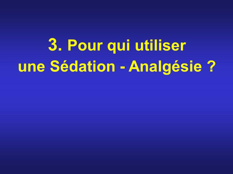 3. Pour qui utiliser une Sédation - Analgésie ?