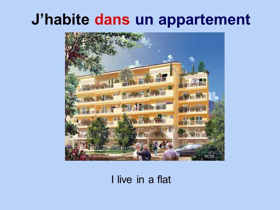 Jhabite dans un appartement I live in a flat