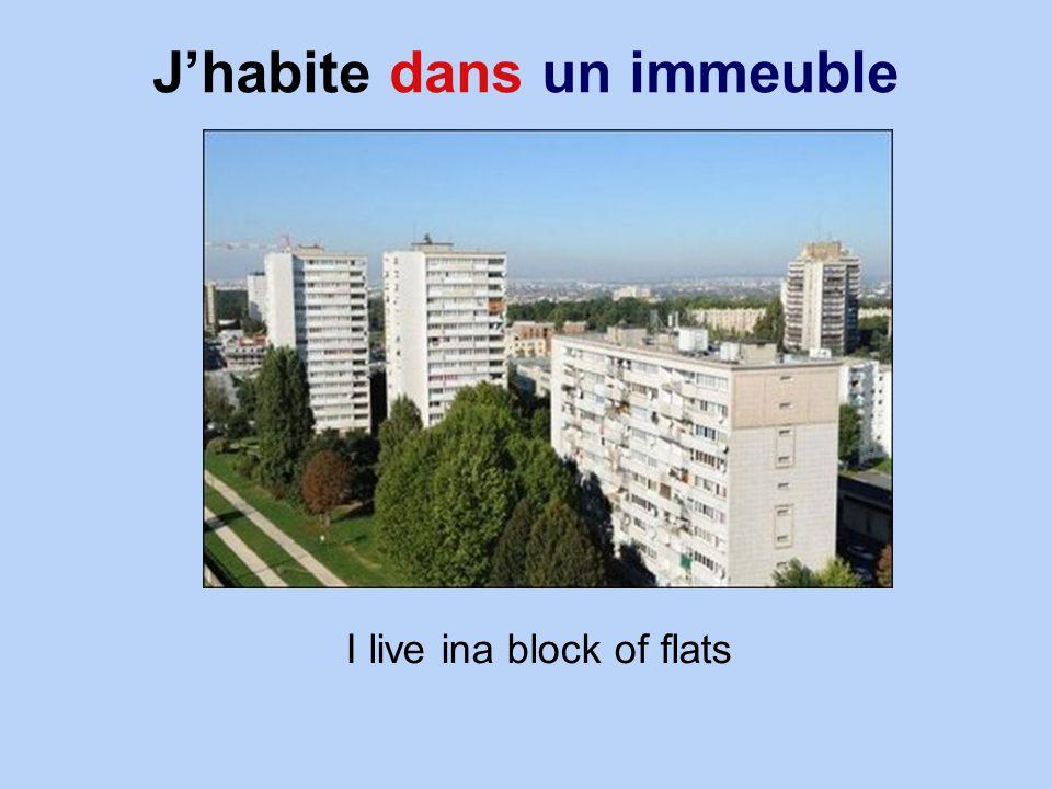 Jhabite dans un immeuble I live ina block of flats