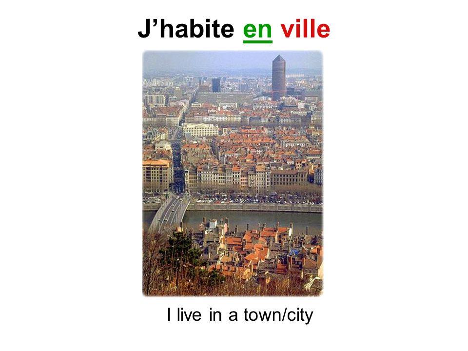 Jhabite en ville I live in a town/city