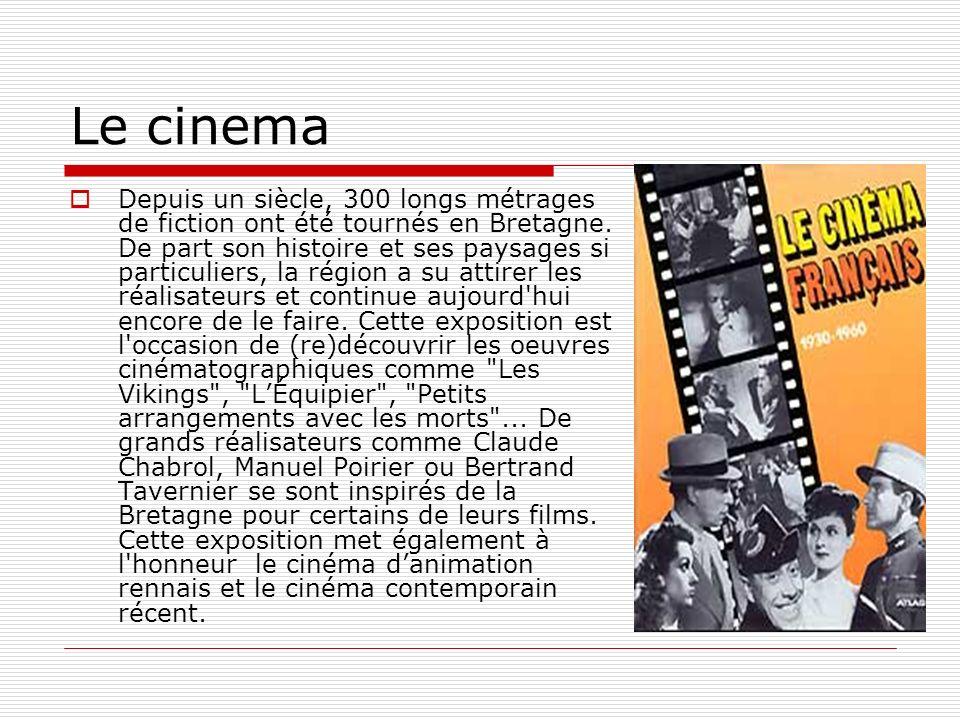 La Région Bretagne aime le cinéma La Bretagne est lune des régions françaises qui mènent l action la plus dynamique en faveur du cinéma et de laudiovisuel : fonds d aide à la création soutenant la réalisation d une diversité d œuvres audiovisuelles et de cinéma (budget de 2 M par an pour aider courts et longs-métrages, documentaires, fictions et animations) ; bureau daccueil des tournage offrant conseil et aopui technique gratuit aux films tournés en Bretagne (pré-repérages, casting, liste de techniciens, de comédiens et de prestataires..), soutien à plusieurs festivals dédiés au long ou court métrage, à lanimation ou encore au documentaire (Dinard, Travelling, Douarnenez, Brest)....