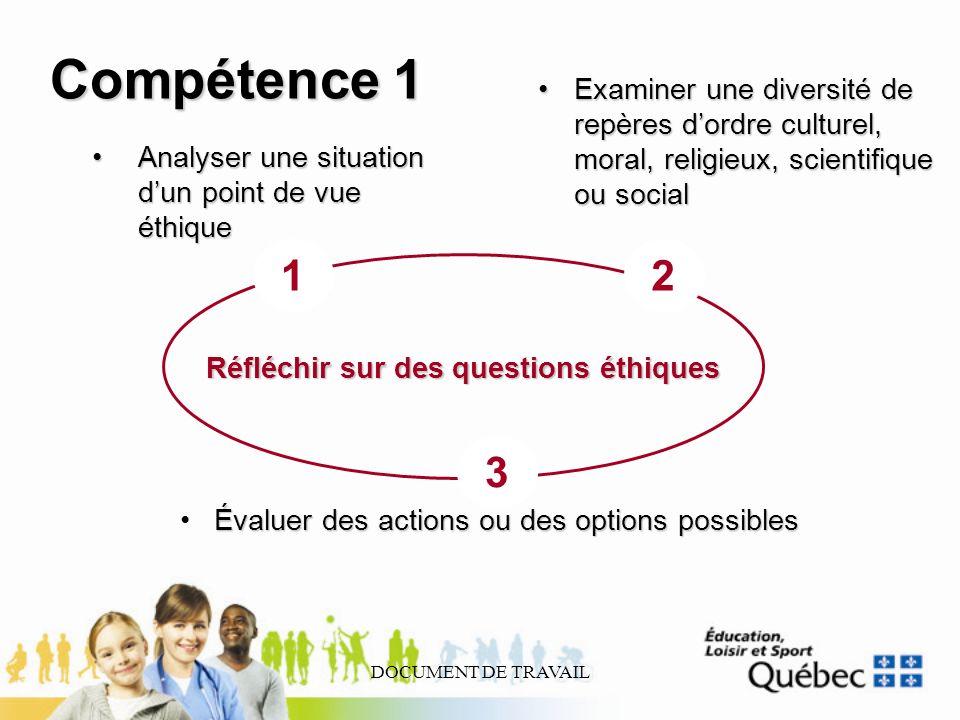 DOCUMENT DE TRAVAIL Analyser une situation dun point de vue éthiqueAnalyser une situation dun point de vue éthique Examiner une diversité de repères d