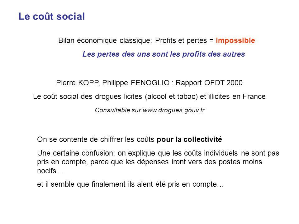 Le coût social Bilan économique classique: Profits et pertes = impossible Les pertes des uns sont les profits des autres Pierre KOPP, Philippe FENOGLI