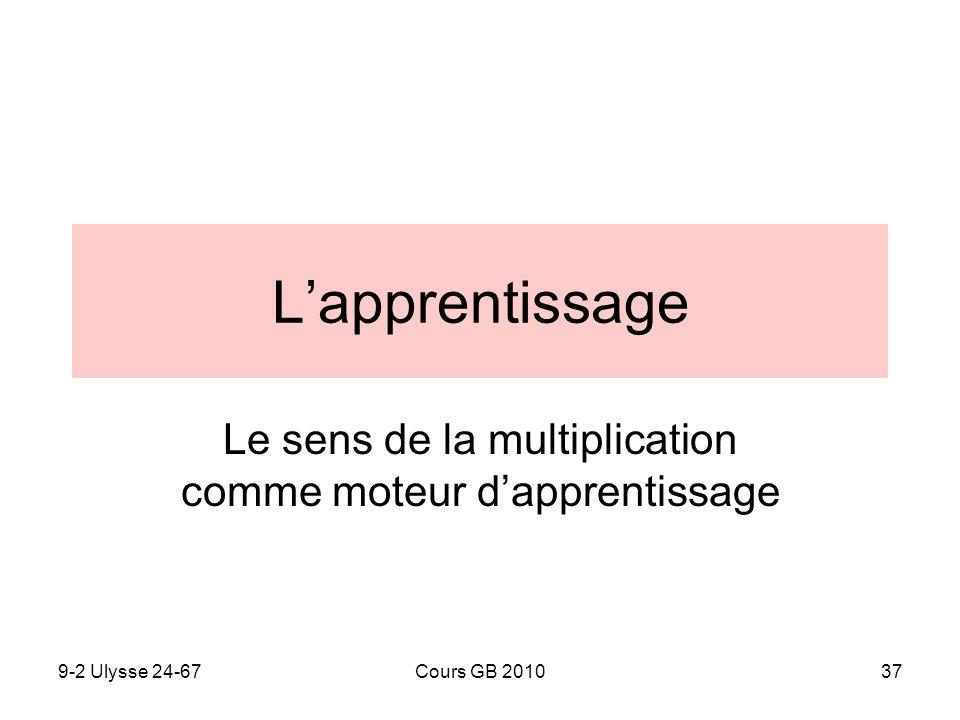 9-2 Ulysse 24-67Cours GB 201037 Lapprentissage Le sens de la multiplication comme moteur dapprentissage