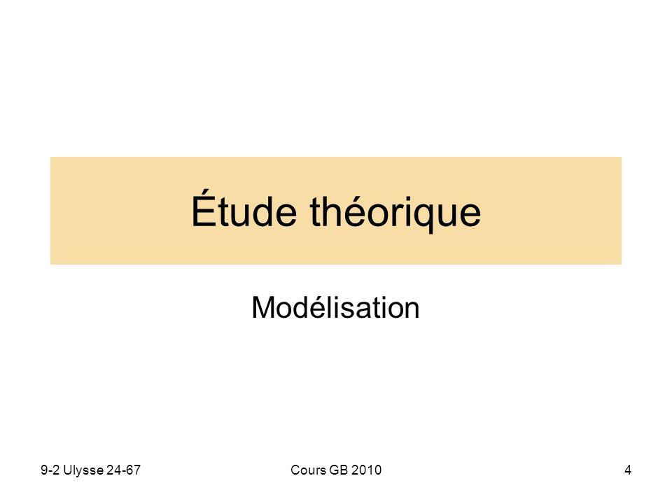 9-2 Ulysse 24-67Cours GB 20104 Étude théorique Modélisation