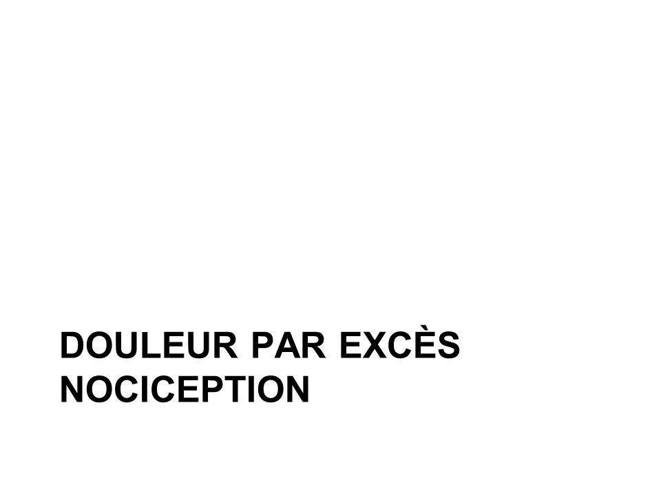 DOULEUR PAR EXCÈS NOCICEPTION