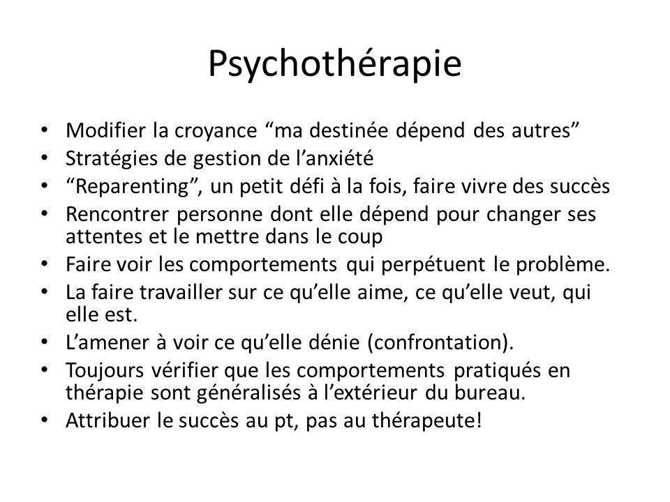 Psychothérapie Modifier la croyance ma destinée dépend des autres Stratégies de gestion de lanxiété Reparenting, un petit défi à la fois, faire vivre