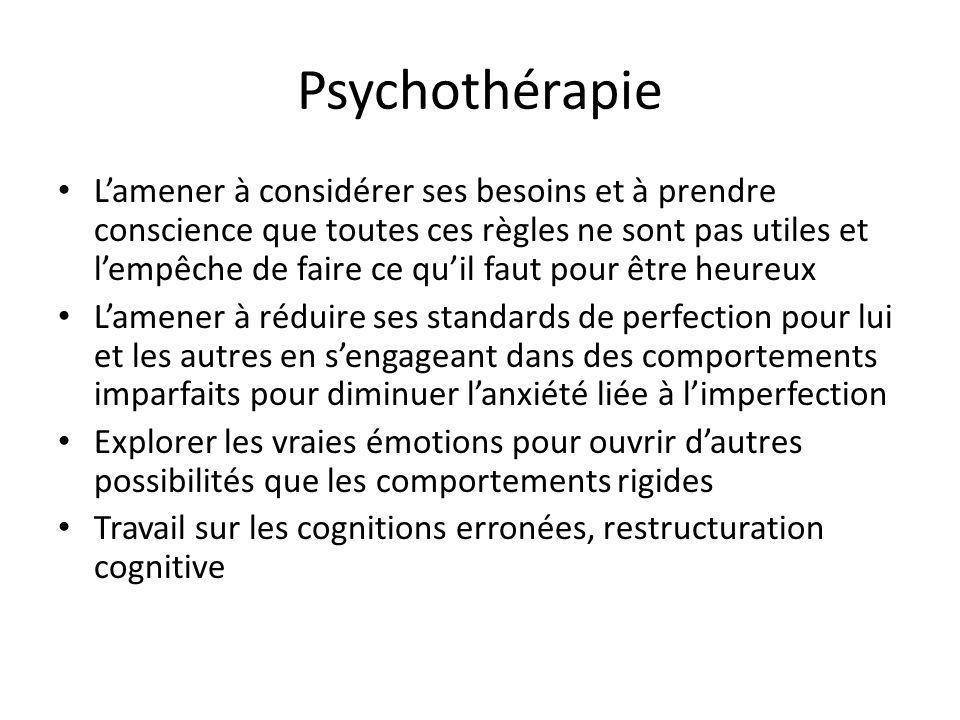 Psychothérapie Lamener à considérer ses besoins et à prendre conscience que toutes ces règles ne sont pas utiles et lempêche de faire ce quil faut pou