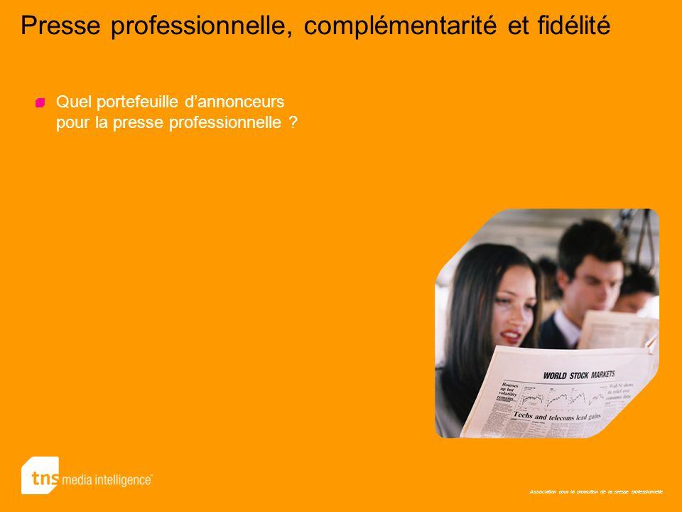 Association pour la promotion de la presse professionnelle Presse professionnelle, complémentarité et fidélité Quel portefeuille dannonceurs pour la p