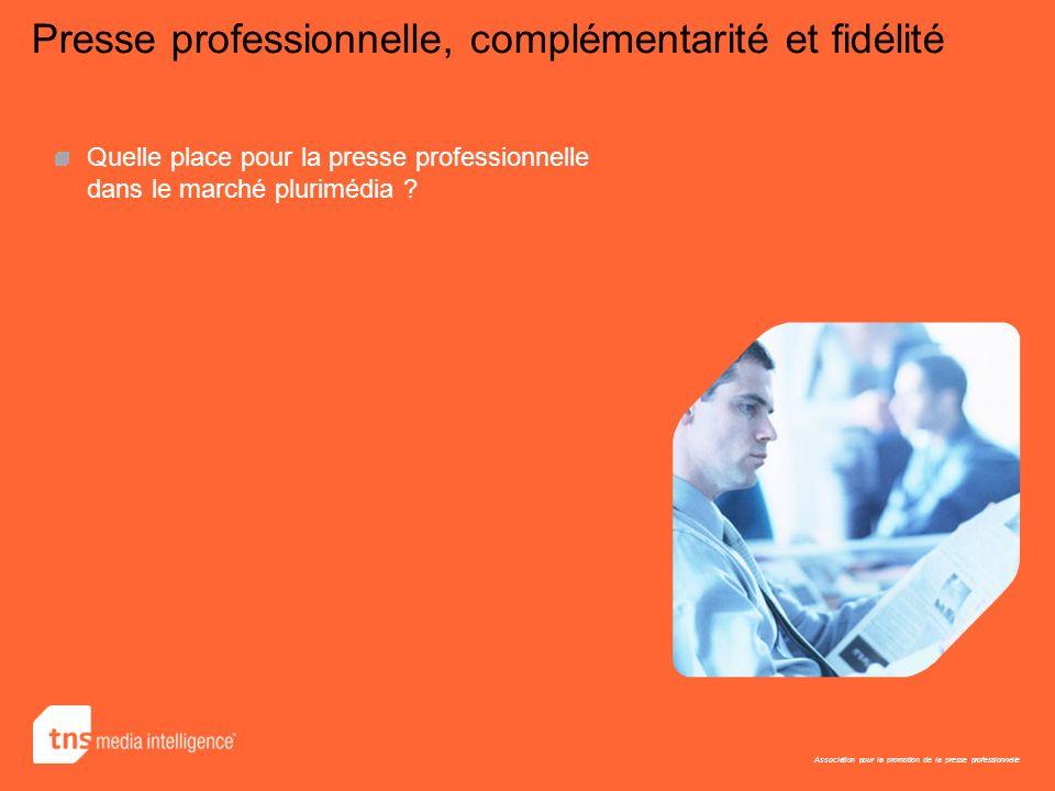 Association pour la promotion de la presse professionnelle Presse professionnelle, complémentarité et fidélité Quelle place pour la presse professionn