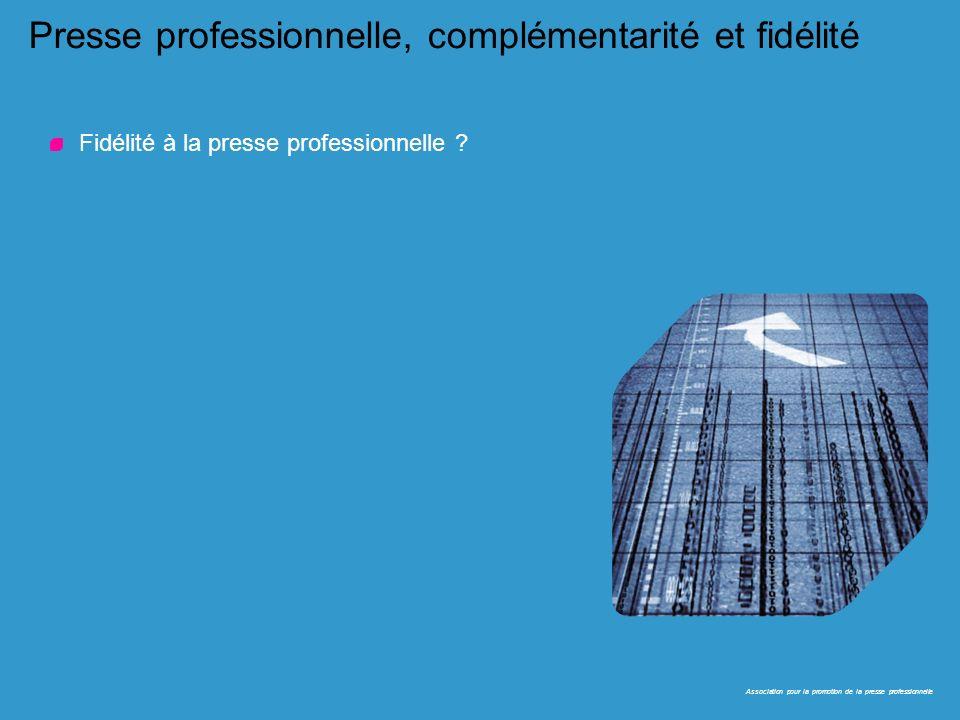 23 Presse professionnelle, complémentarité et fidélité Fidélité à la presse professionnelle ? Association pour la promotion de la presse professionnel