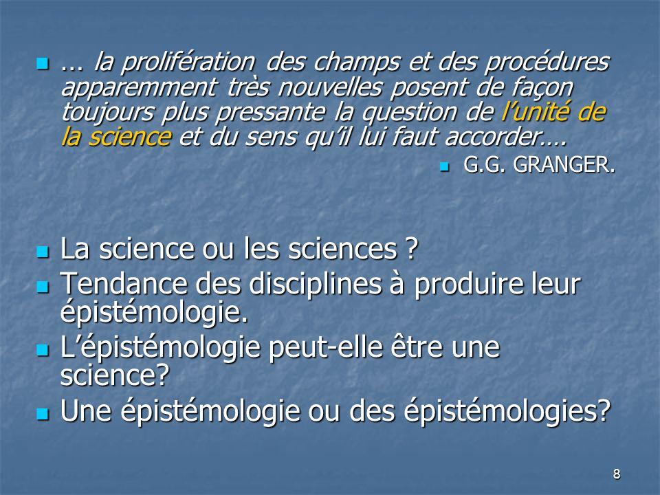 9 Lépistémologie génétique Lépistémologie génétique Les courants épistémologiques et le renouvellement de la didactique (réalisme, cartésianisme, empirisme, positivisme, structuralisme, constructivisme…) Les courants épistémologiques et le renouvellement de la didactique (réalisme, cartésianisme, empirisme, positivisme, structuralisme, constructivisme…) Doù, la proposition suivante : Doù, la proposition suivante :