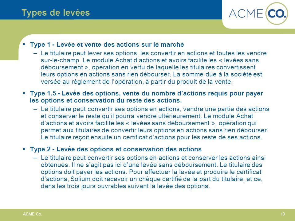 13 ACME Co.