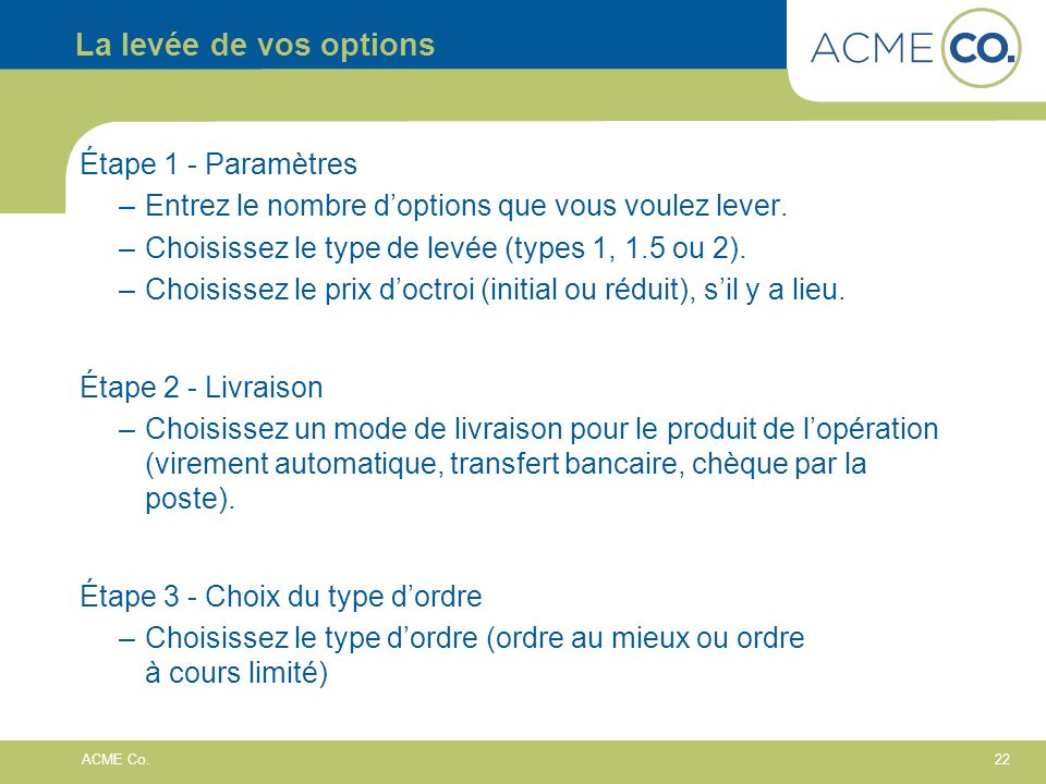 22 ACME Co.