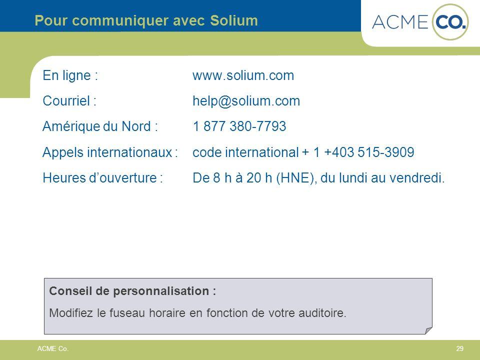 29 ACME Co.