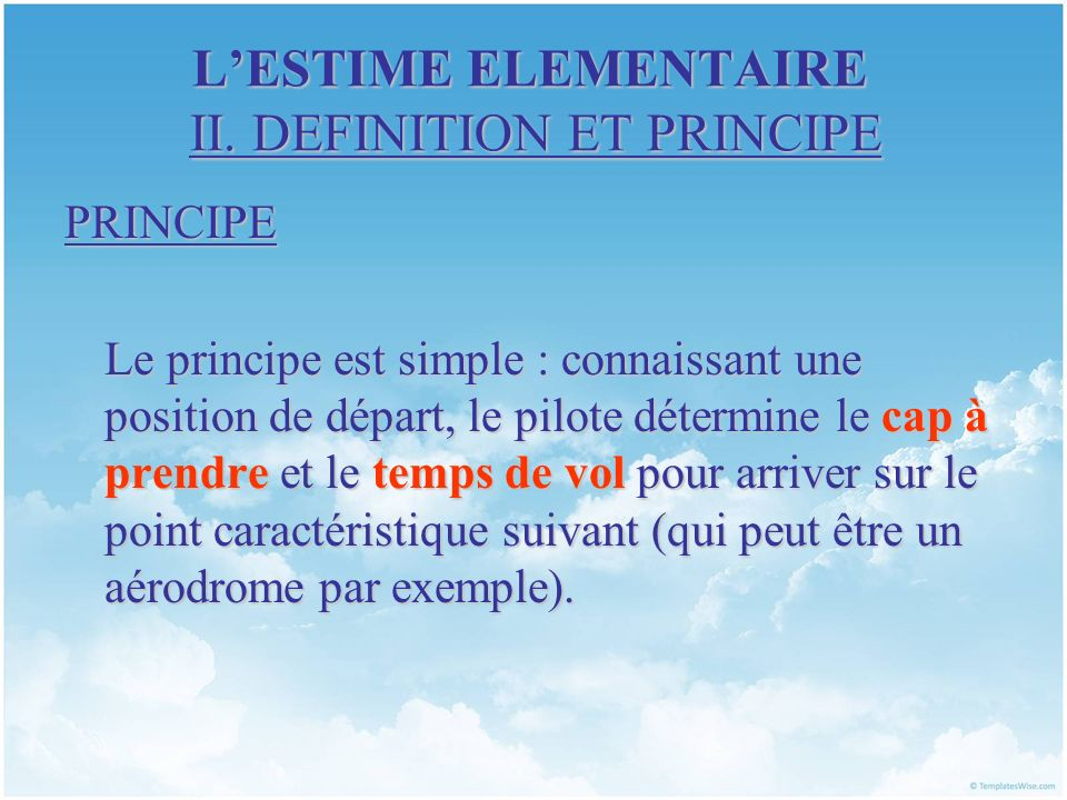 LESTIME ELEMENTAIRE II.