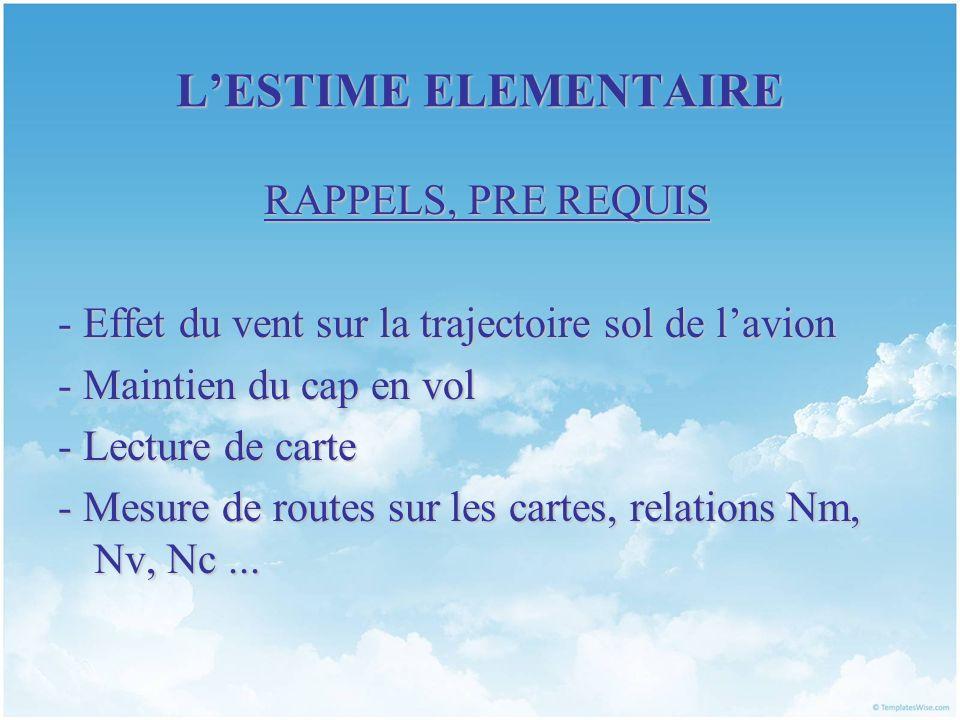 LESTIME ELEMENTAIRE PLAN DU COURS I.RAPPELS ET OUTILS II.