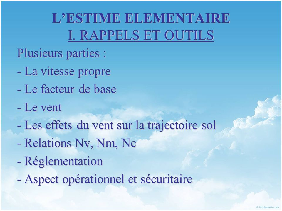 LESTIME ELEMENTAIRE I.