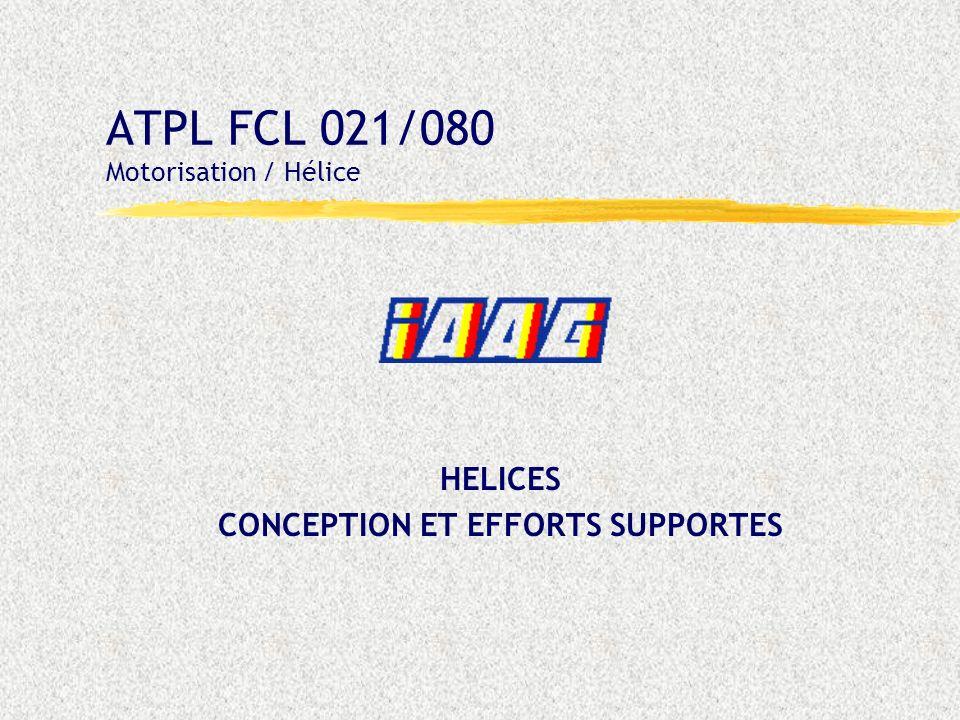 FCL021 - Motorisation : Hélices 04 : - Diapo 32 -03/05/02 HELICE A TENDANCE FORCEE Principe - deux ressorts de compression dans le vérin, et - de masselottes de pied de pale qui agissent par effet centrifuge.