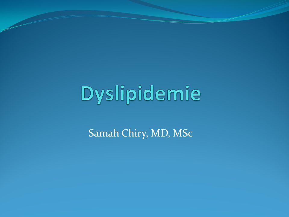 Objectifs du college Dépistez la dyslipidémie chez les patients à risque.