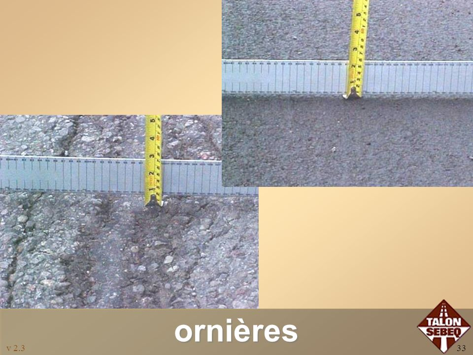 v 2.332 Utilisations Corrections: –Ornières: dans certains cas jusquà 40 mm RoadLiftRoadLift