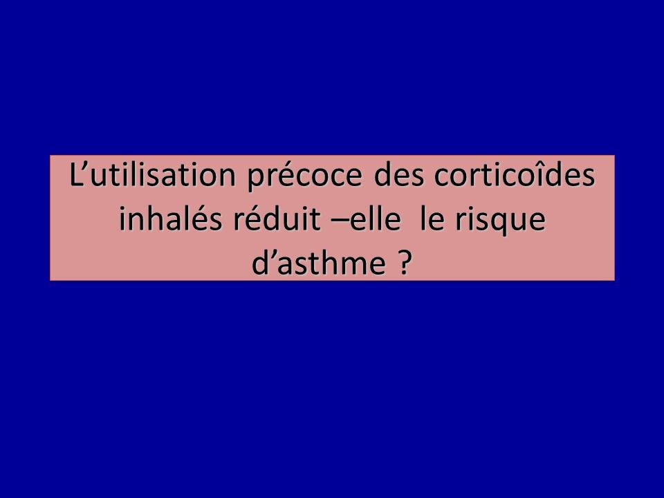 Lutilisation précoce des corticoîdes inhalés réduit –elle le risque dasthme ?
