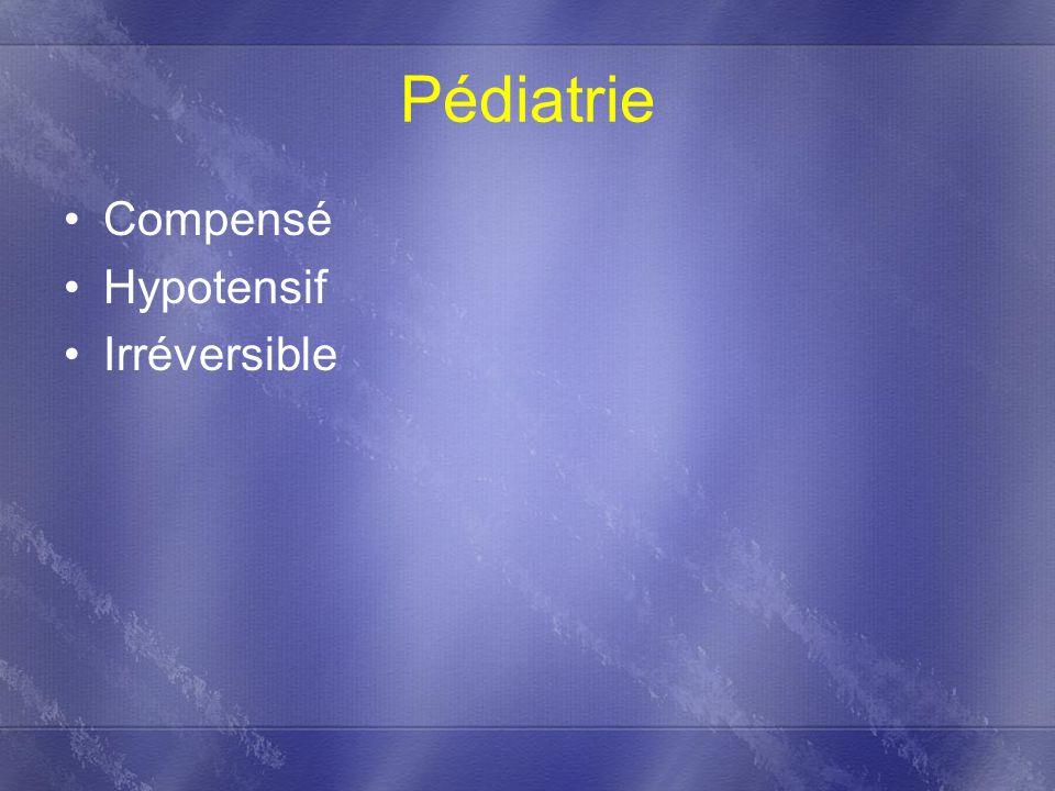 Pédiatrie Compensé Hypotensif Irréversible
