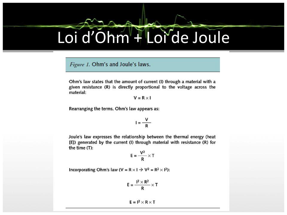 Loi dOhm + Loi de Joule