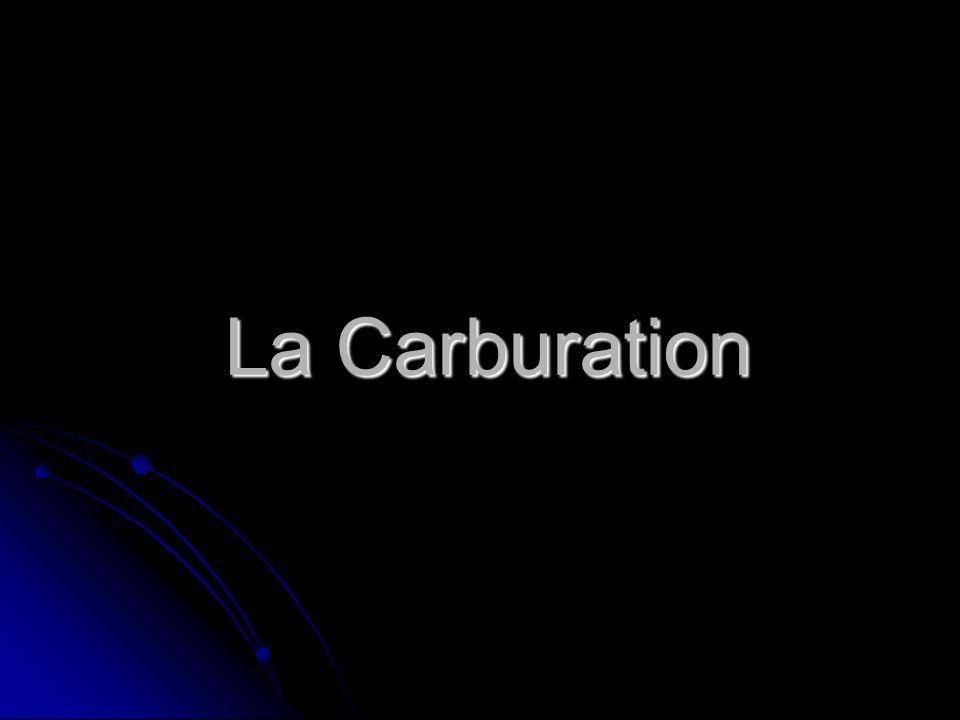 La Carburation12 A. Le carburateur 1. Arrivée dessence
