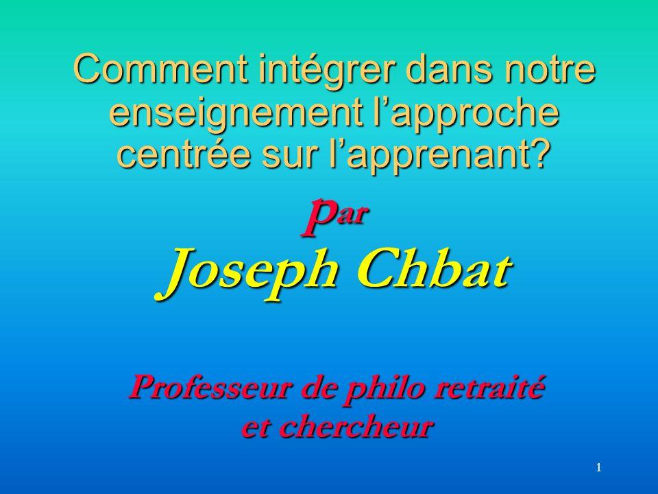 52 -Vous pourrez aussi consulter notre présentation Power Point à lAQPC 2005 intitulée « Du savoir des professeurs à celui des élèves », accessible à ladresse suivante : http://www.cdc.qc.ca/actes_aqpc/200 5/chbat_joseph_509.ppt http://www.cdc.qc.ca/actes_aqpc/200 5/chbat_joseph_509.ppt